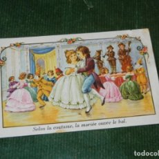 Postales: ANTIGUA POSTAL FRANCESA SP - SELON LA COUTUME, LA MARIÉE OUVRE LE BAL. Lote 116257483