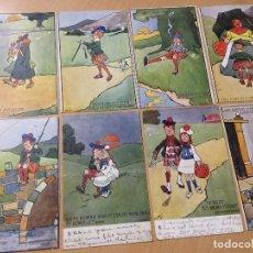 Postales: ANTIGUAS POSTALES COMICAS INGLESAS ESCOCES ILUSTRADOR HAMISH. Lote 116368267