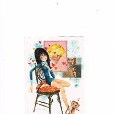 Postales: POSTAL ANTIGUA MUCHACHA AMOR. Lote 116461923