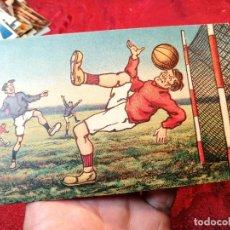 Postales: CARICATURA DE FUTBOLISTAS FUTBOL PORTERO . Nº 5011 IMP . GERMANY .SIN CIRCULAR CIRCA 1920-30. Lote 116514071