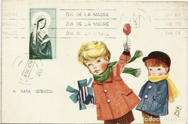 4945A- DIA DE LA MADRE - EDICIONES GAISA 1005.C - LIT S. DURÁ 1962- DIPTICA 19,2X12,8 CM (Postales - Dibujos y Caricaturas)