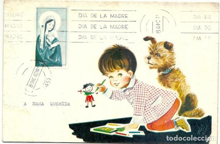4946A - DIA DE LA MADRE - EDICIONES GAISA 1005.D - LIT S. DURÁ 1962- DIPTICA 19,2X12,8 CM (Postales - Dibujos y Caricaturas)