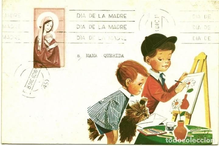 4947A - DIA DE LA MADRE - EDICIONES GAISA 1005.H - LIT S. DURÁ 1962- DIPTICA 19,2X12,8 CM (Postales - Dibujos y Caricaturas)