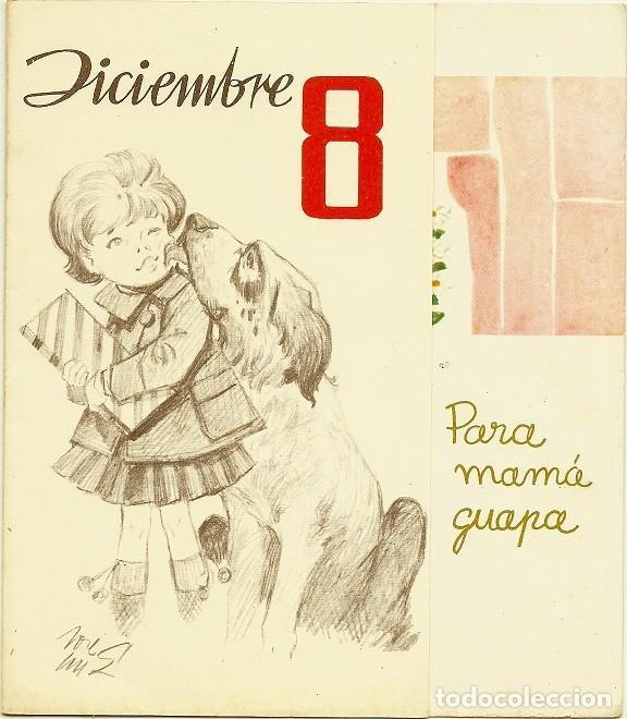 4944A - DICIEMBRE 8 - EDIC. GAISA 1006.B - LIT S. DURÁ 1962- DIPTICA 16,5X14,5 CM DIBUJO INTERIOR (Postales - Dibujos y Caricaturas)