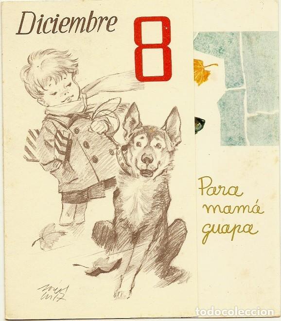 4943A - DICIEMBRE 8 - EDIC. GAISA 1006.D - LIT S. DURÁ 1962- DIPTICA 16,5X14,5 CM DIBUJO INTERIOR (Postales - Dibujos y Caricaturas)