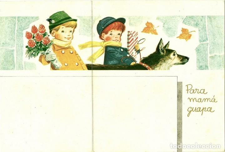 Postales: 4943A - DICIEMBRE 8 - EDIC. GAISA 1006.D - LIT S. DURÁ 1962- DIPTICA 16,5X14,5 CM DIBUJO INTERIOR - Foto 2 - 116550963