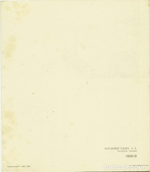 Postales: 4943A - DICIEMBRE 8 - EDIC. GAISA 1006.D - LIT S. DURÁ 1962- DIPTICA 16,5X14,5 CM DIBUJO INTERIOR - Foto 3 - 116550963