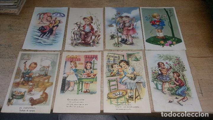 Postales: 115 postales infantiles de diferentes dibujantes, 14 x 9 cm. - Foto 3 - 117203095