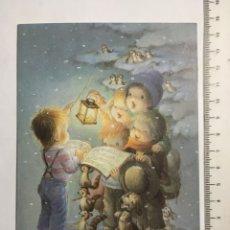 Postales: FELICITACIÓN NAVIDAD. DIPTICO. ILUSTRACIÓN FERRANDIZ. H. 1970?. Lote 117659552
