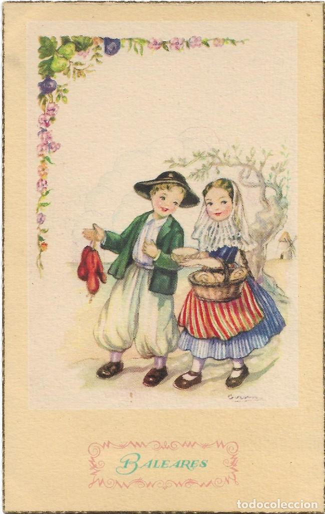 EDITORIAL ARTIGAS / LAIETANA SERIE 5029 .- ILUSTRA GIRONA .- BALEARES (Postales - Dibujos y Caricaturas)