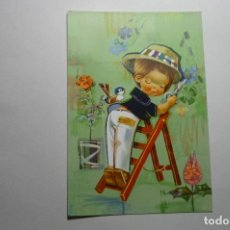 Postales: POSTAL DIBUJO VERNET - JARDINERO ESCRITA. Lote 118234847