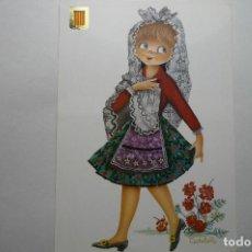 Postales: POSTAL DIBUJO CASTAÑER - TRAJES REGIONALES CATALUÑA - CIRCULADA. Lote 118235251
