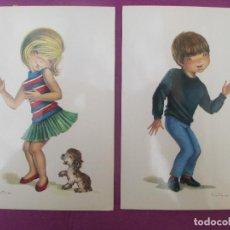 Postales: 2 POSTALES, NIÑA Y NIÑO BAILANDO, ILUS. CONSTANZA, Nº6633, C Y Z,. Lote 213706760