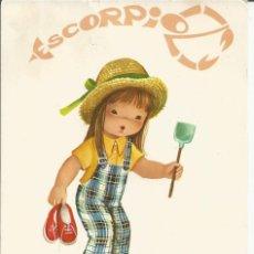 Postales: POSTAL *CONSTANZA* - NIÑA HOROSCOPO ESCORPION. Lote 119331195