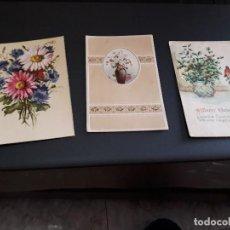 Postales: LOTE DE 3 POSTALES - PLANTAS Y FLORES - ANTIQUISIMAS- ( LOTE 46 ). Lote 119535587