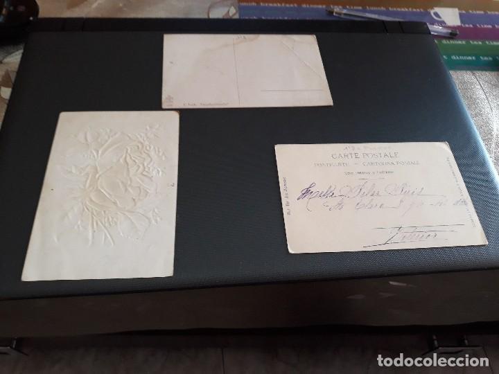 Postales: LOTE DE 3 POSTALES - PLANTAS Y FLORES - ANTIQUISIMAS- ( LOTE 47 ) - Foto 2 - 119535703