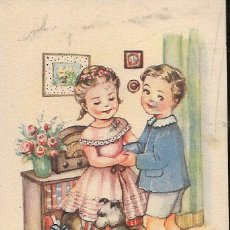 Postales: POSTAL GIRONA * AVENTURAS DE MARI - PILI , LA FIESTA ES DE MARAVILLA..- * COLECCIÓN B - AÑO 1949. Lote 121660003