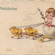 Postales: POSTAL EDICIONES AMAG Nº ? .- FELICIDADES .- ESCRITA AL DORSO 1925. Lote 121667951