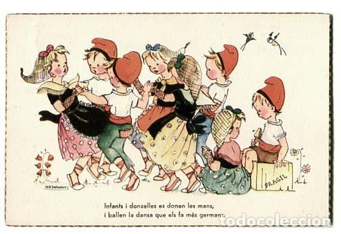 CATALUÑA POSTAL ILUSTRADA M.D. SALMONS ( NIÑOS ) . ED. JBR, 40. . ESCRITA (Postales - Dibujos y Caricaturas)