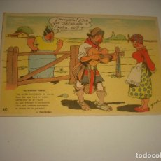 Postales: POSTAL HUMORISTICA ANTIGUA DE MARTIN FIERRO N° 40 . ILUSTRADA POR BENZ, ED. LA SUDAMERICANA. Lote 122188319