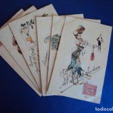 Postales: (PS-56310)LOTE DE 6 POSTALES ILUSTRADAS . Lote 122757271