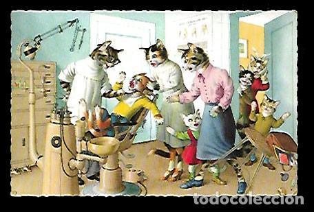POSTAL * GATITOS EN EL DENTISTA * SERIE 2257/6 (Postales - Dibujos y Caricaturas)
