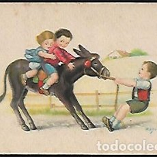 Postales: POSTAL ZSOLT * NIÑOS EN BURRITO * SERIE 47 - AÑO 1944. Lote 123103411