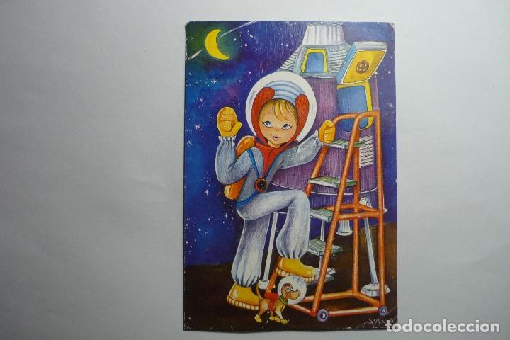 POSTAL DIBUJO ASTRONAUTA- DIBUJO SILVIA ESCRITA (Postales - Dibujos y Caricaturas)