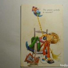 Postales: POSTAL NIÑO HABLANDO POR TELEFONO .-ESCRITA -DIBUJO ASUN. Lote 123716159