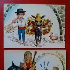Postales: LOTE 2 POSTALES EL BOTIJERO 226 Y 232 EDICIONES SAVIR. Lote 124420302