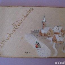 Postales: POSTAL DE NAVIDAD. ESCRITA 1945. 12,5X8 CM.. Lote 126312227