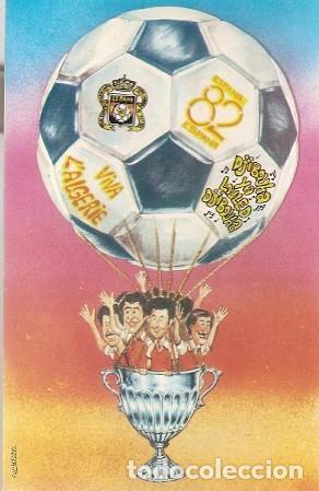 ARGELIA ** & POSTAL, CAMPIONATO DEL MUNDO DE FÚTBOL, ESPAÑA 1982, VIVA ARGELIA, MUSTAPHA TADJER (99) (Postales - Dibujos y Caricaturas)