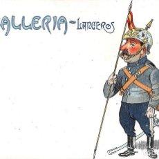 Postales: CABALLERÍA- LANCEROS- SERIE A Nº 4. Lote 127996603