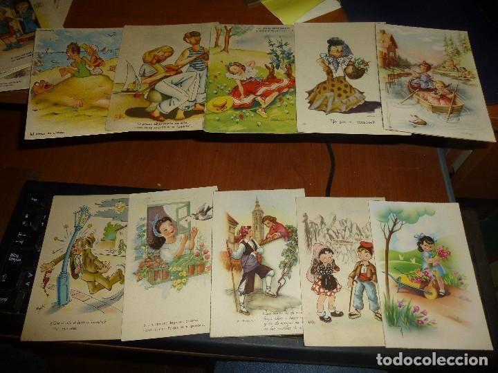 Postales: 115 postales infantiles de diferentes dibujantes, 14 x 9 cm. - Foto 14 - 117203095