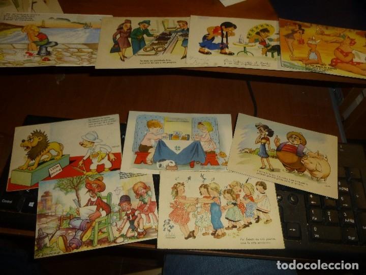 Postales: 115 postales infantiles de diferentes dibujantes, 14 x 9 cm. - Foto 16 - 117203095