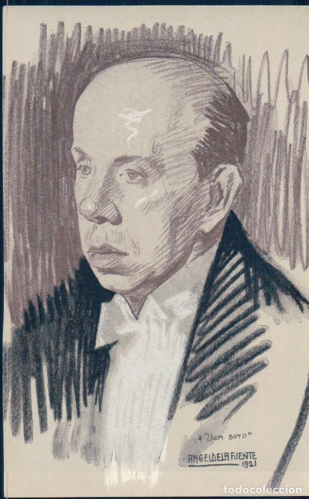POSTAL DE ANGEL DE LA FUENTE ILUSTRADOR LEON BOYD 1921 (Postales - Dibujos y Caricaturas)