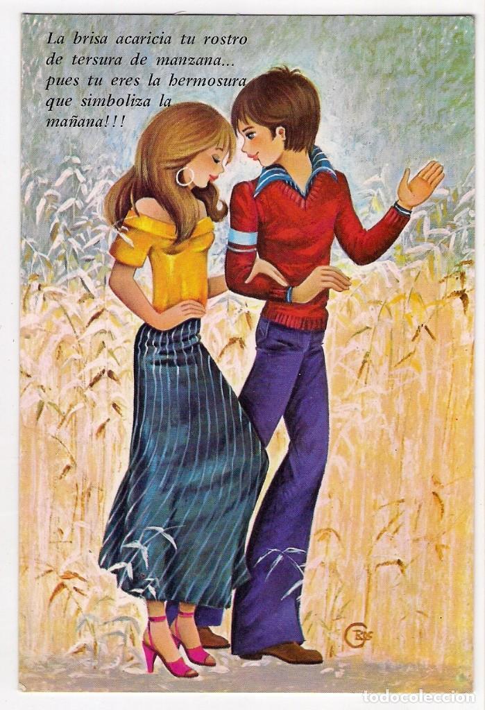 72004 Postal Dibujo Hombre Y Mujer Enamorados Comprar Postales