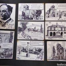Postales: LOTE DE 8 POSTALES ANTONIO MACHADO -SORIA. LIBRERIA JODRA.. Lote 129724052