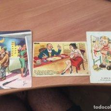 Postales: LOTE 3 POSTALES DIBUJOS AÑOS 50 Y PRINCIPIOS 60 (CRIP2). Lote 131052808
