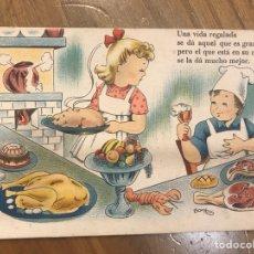 Postales: POSTAL. DIBUJOS Y CARICATURAS. SERIE 51. ILUSTRA BOMBÓN. EDITORIAL ARTIGAS (BARCELONA) H.1940?. Lote 131111503
