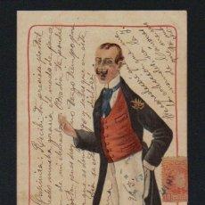 Postales: POSTAL ILUSTRADA. CARICATURA. CIRCULADA EN 1903.. Lote 131359082