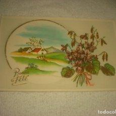 Postales: BONITA POSTAL ITALIANA BONNE FETE. ED, CECAMI 7255, CON MUCHOS DETALLES DORADOS.. Lote 131819146