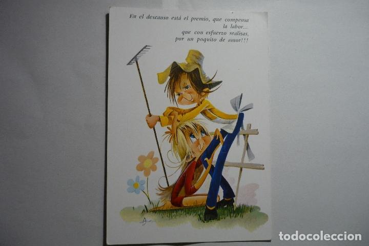 POSTAL DIBUJO JARDINERO -DIBUJO ASUN --ESCRITA (Postales - Dibujos y Caricaturas)