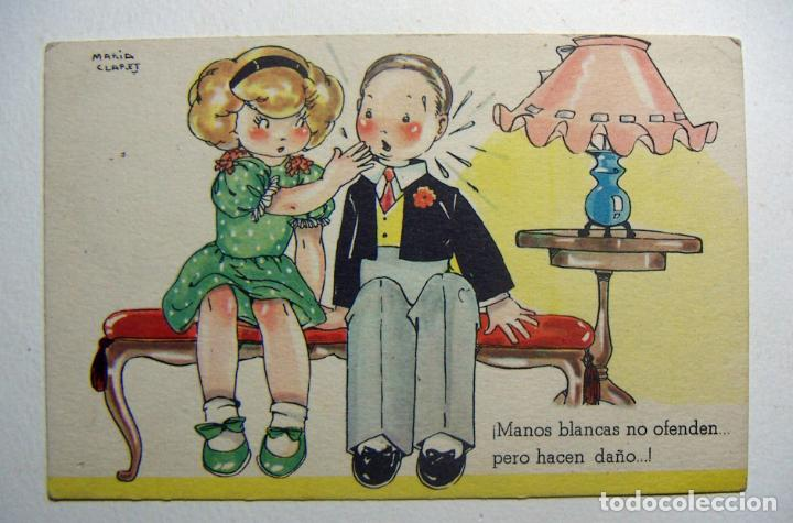 POSTAL COLECCION DE POSTALES MARI PEPA ILUSTRADA MARIA CLARET SERIE V Nº 2 (Postales - Dibujos y Caricaturas)