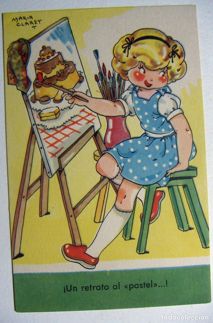POSTAL COLECCION DE POSTALES MARI PEPA ILUSTRADA MARIA CLARET SERIE F Nº 6 AÑO 1950 (Postales - Dibujos y Caricaturas)