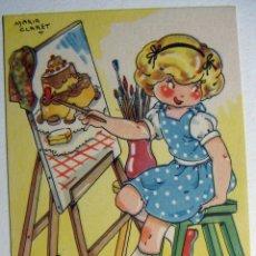Postales: POSTAL COLECCION DE POSTALES MARI PEPA ILUSTRADA MARIA CLARET SERIE F Nº 6 AÑO 1950. Lote 132823702