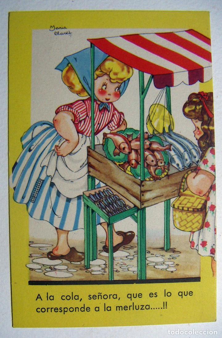 POSTAL COLECCION DE POSTALES MARI PEPA ILUSTRADA MARIA CLARET SERIE P Nº 2 AÑO 1950 (Postales - Dibujos y Caricaturas)