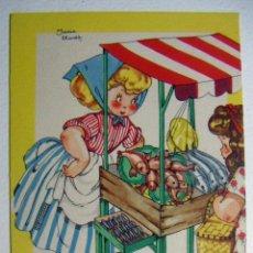 Postales: POSTAL COLECCION DE POSTALES MARI PEPA ILUSTRADA MARIA CLARET SERIE P Nº 2 AÑO 1950. Lote 132823954