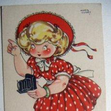 Postales: POSTAL COLECCION DE POSTALES MARI PEPA ILUSTRADA MARIA CLARET SERIE X Nº 7 SIN ESCRIBIR. Lote 132825974
