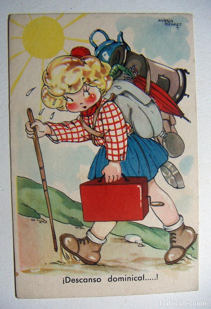 POSTAL COLECCION DE POSTALES MARI PEPA ILUSTRADA MARIA CLARET SERIE X Nº 5 SIN ESCRIBIR (Postales - Dibujos y Caricaturas)